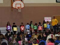 Sheboygan Area School District Longfellow Elementary School. Students at Longfellow Elementary School celebrating diversity.