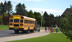 Sheboygan Area School District Transportation. Photo of a School Bus.